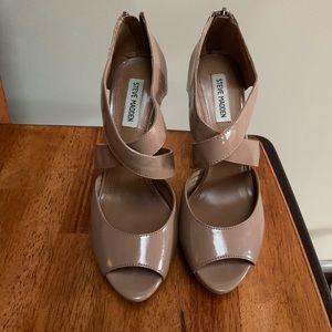 Steve Madden Nude Patent Leather Stilettos